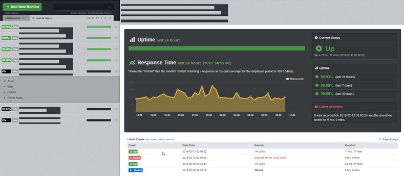 Uptime Robot Dashboard